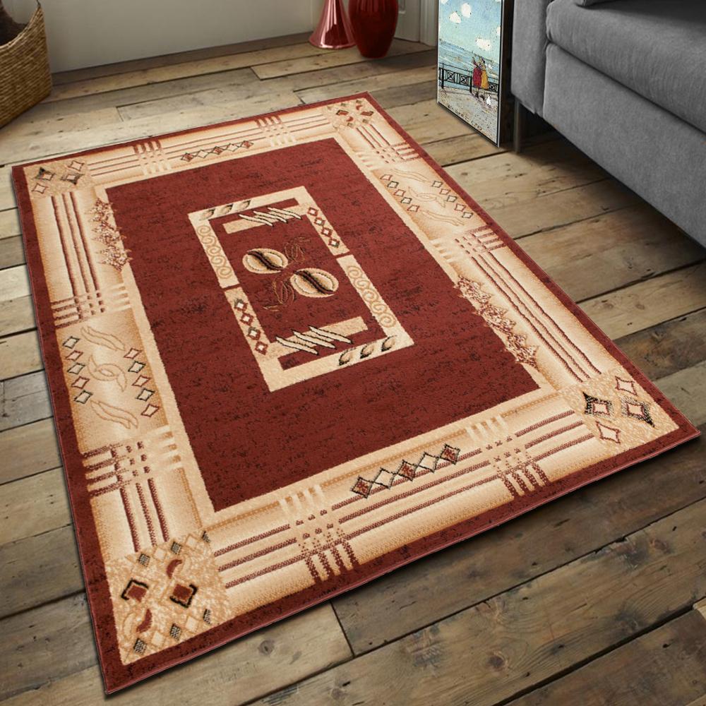 teppich kurzflor teppiche klassisch moderne 200x300 300x400 beige braun ko tex ebay. Black Bedroom Furniture Sets. Home Design Ideas