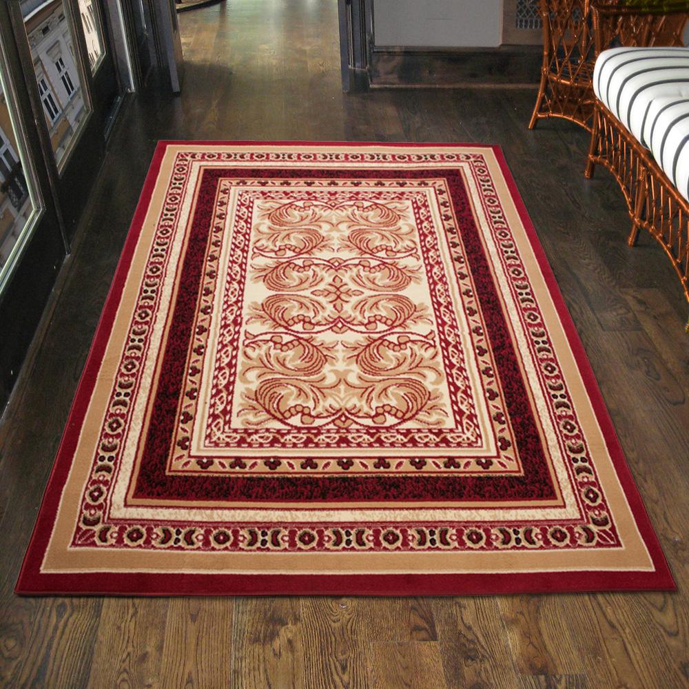 teppich klassisch orientalisch in rot ornamente l ufer. Black Bedroom Furniture Sets. Home Design Ideas