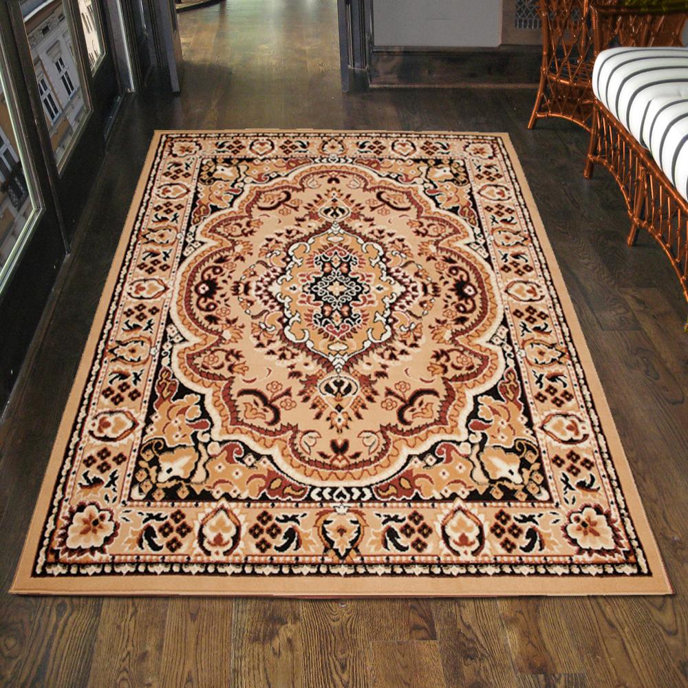 teppich orient perser orientalisch in beige l ufer xxl 200x300 300x400 mehr ebay. Black Bedroom Furniture Sets. Home Design Ideas