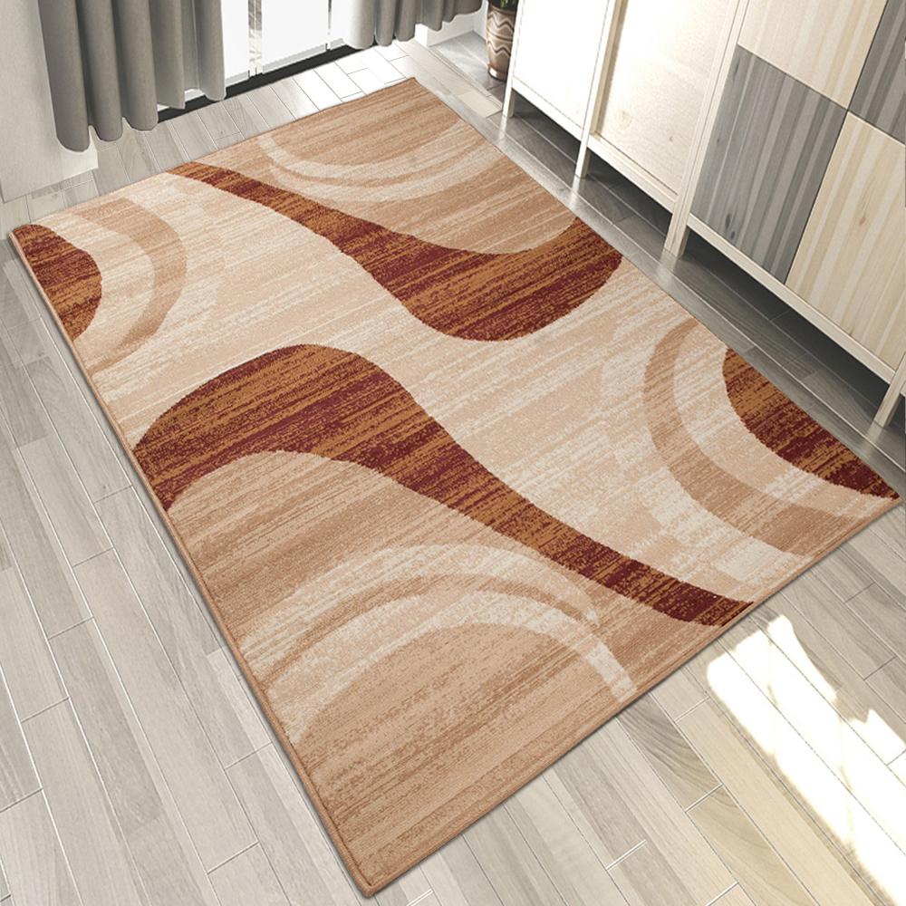 teppich braun beige kurzflor hell d nn modern wohnzimmer teppiche viele gr en ebay. Black Bedroom Furniture Sets. Home Design Ideas