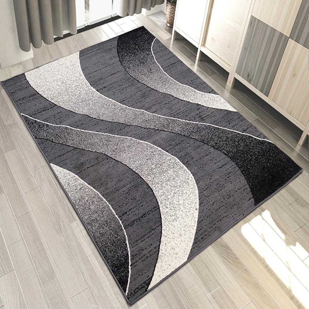 top designer teppich modern teppiche grau 200x300 300x400 160x230 und mehr ebay. Black Bedroom Furniture Sets. Home Design Ideas