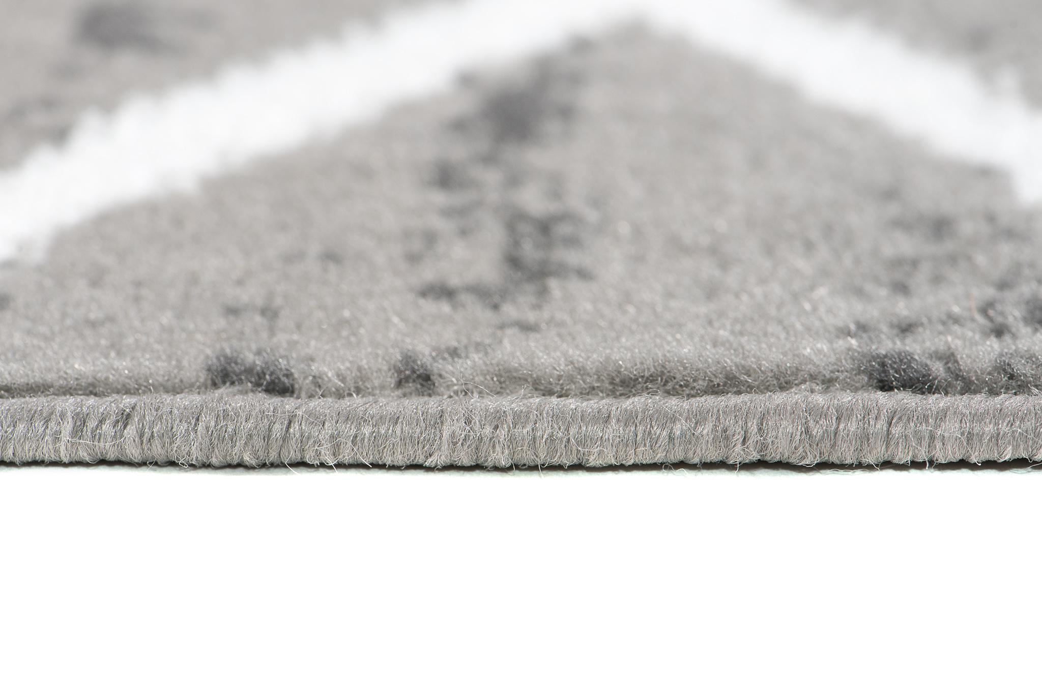 Zone Gris Tapis moderne salon style Plancher Tapis Petit Large Taille Basse Pile