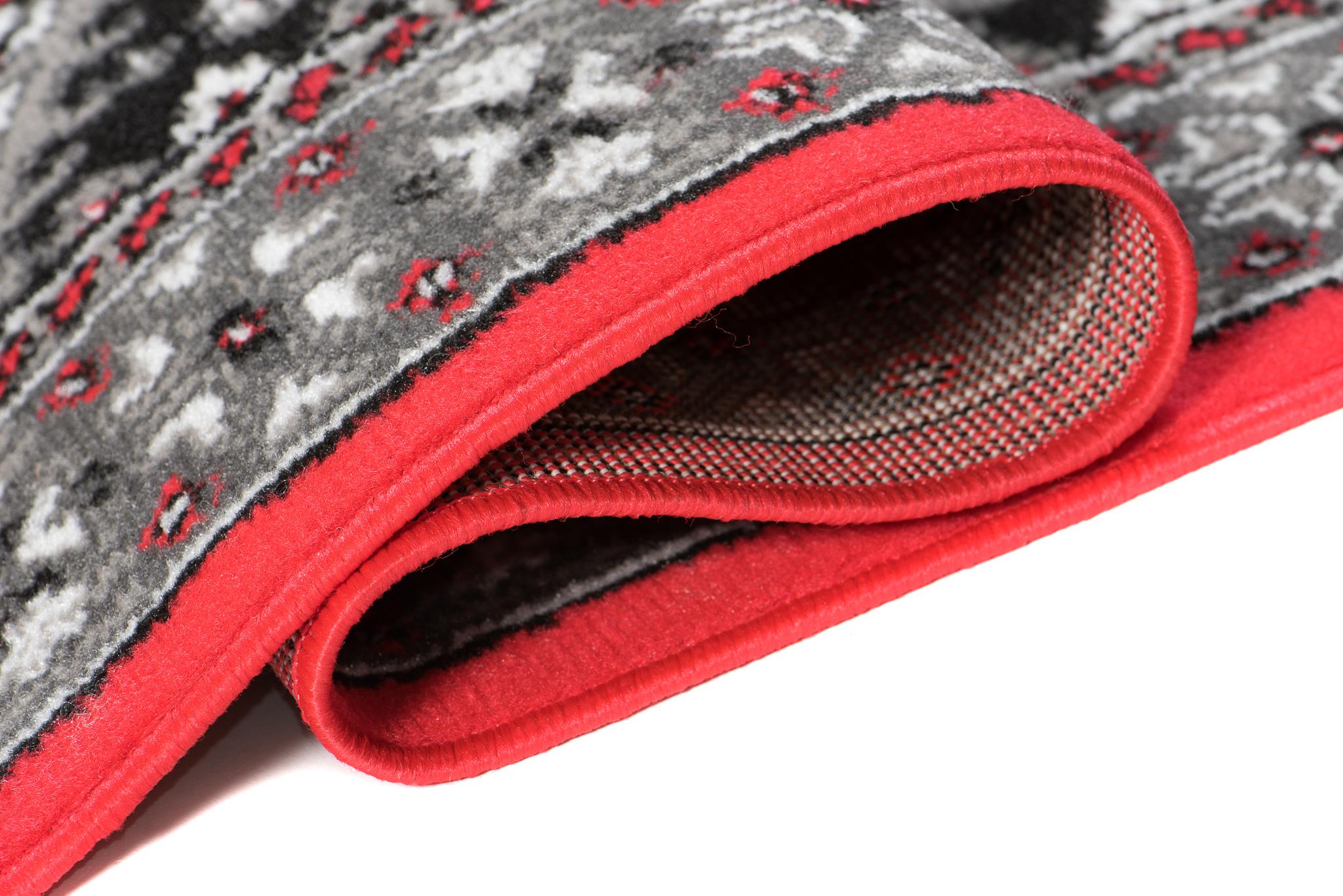 XXL NEU Teppich Orient Perser Muster Orientalisch Design Rot Kurzflor S