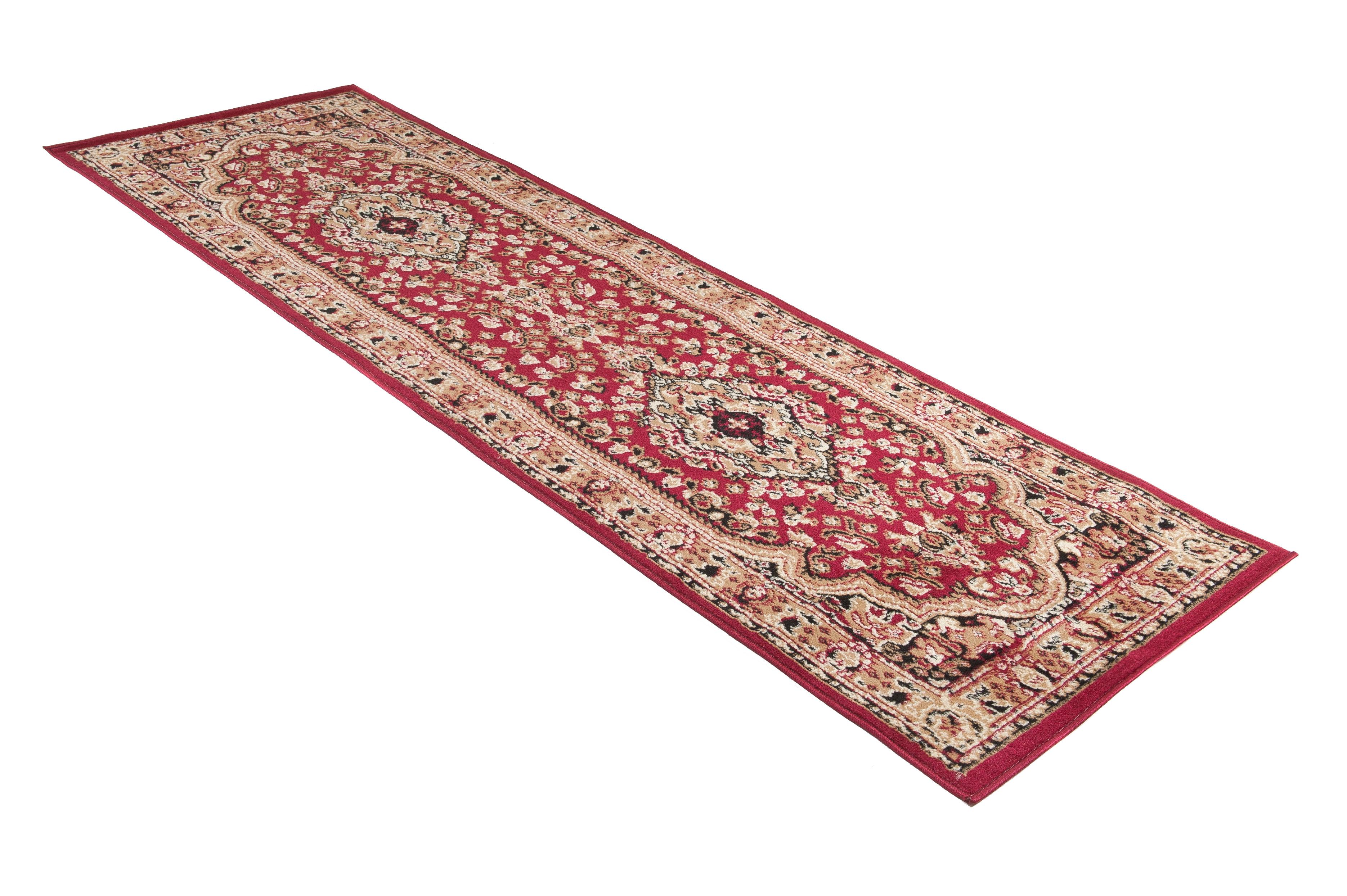 Läufer Teppich Orient Perser Flur Teppichläufer Orient Perser in Beige Kurzflor