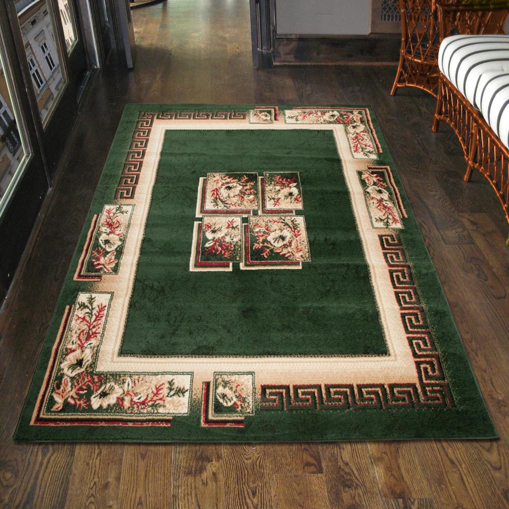 teppich wohnzimmer klassisch griechisch gr n l ufer s xxl 200x300 300x400 mehr ebay. Black Bedroom Furniture Sets. Home Design Ideas