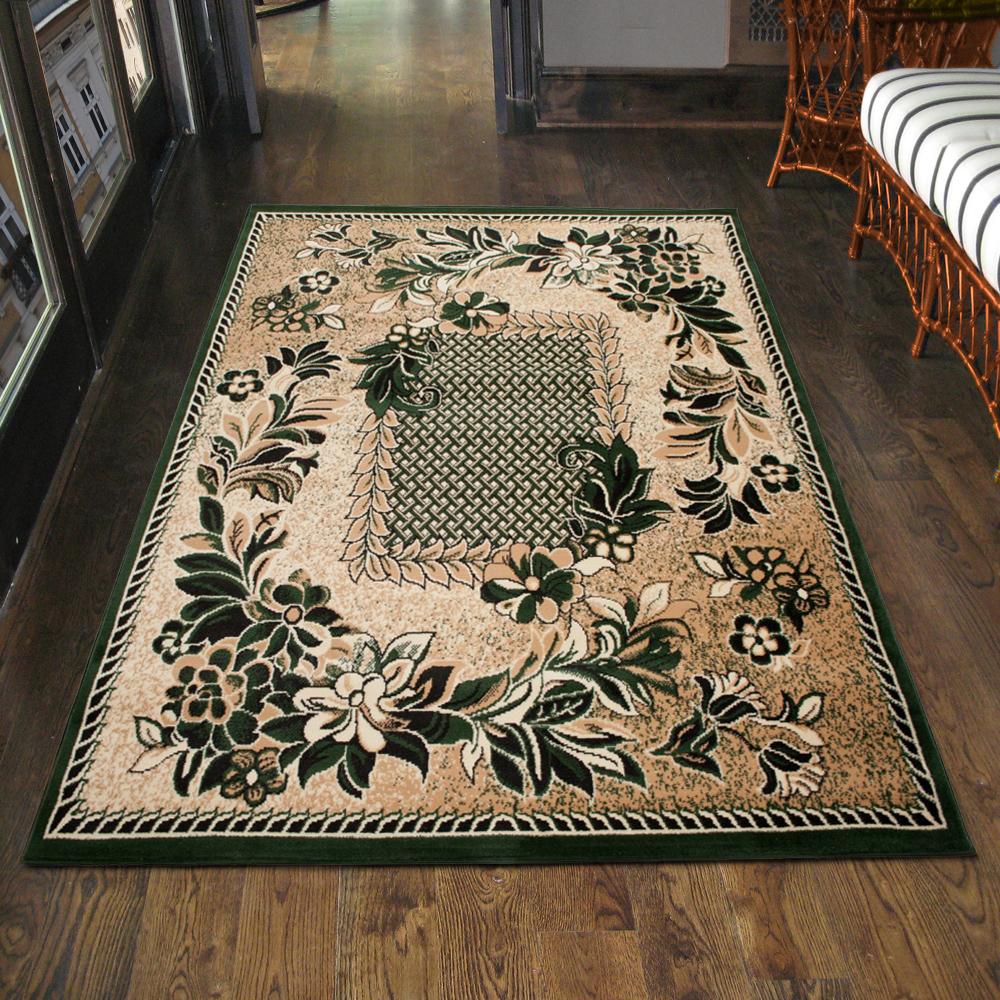 teppich klassisch gemustert in gr n ornamente l ufer 200x300 300x400 80x150 top ebay. Black Bedroom Furniture Sets. Home Design Ideas